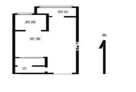 1室1厅1卫1阳台3100元/月,封闭小区,随时入住