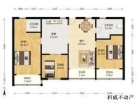 徐汇区,徐家汇,南洋广元公寓,3室2厅,139.85㎡
