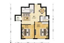 沸城小区2室1厅1卫1阳台4500元/月,干净整洁,随时入住