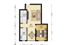 正规大一居室 全南向 满五年 看房方便