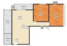 晓月苑六里2室1厅1卫1阳台3800元/月