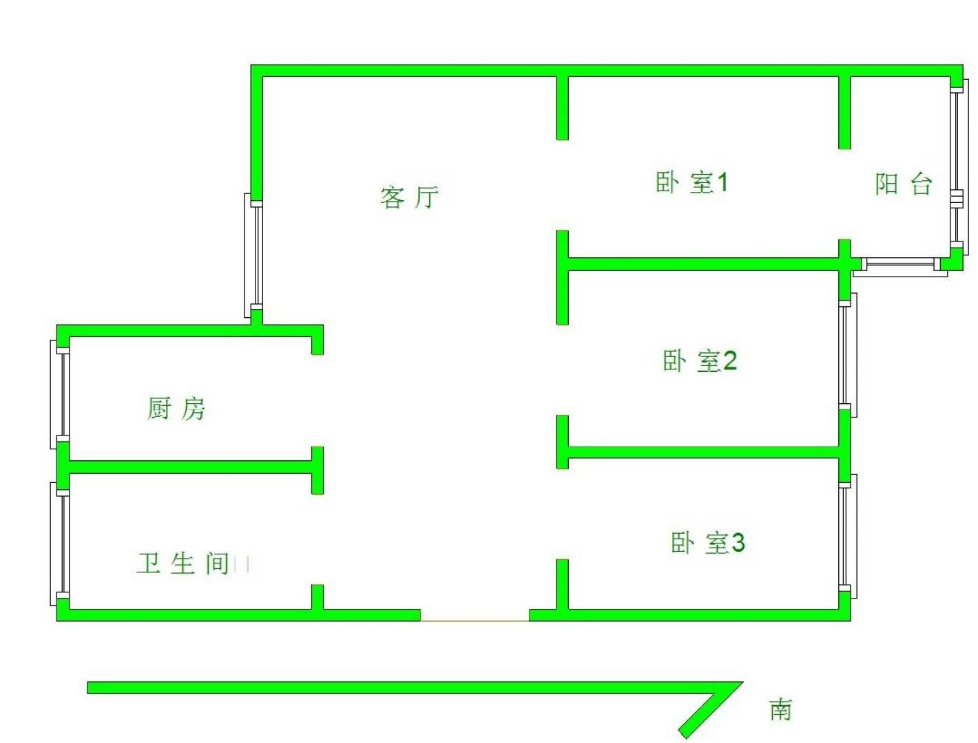 六合区大厂精装3室1厅1卫二手房出售