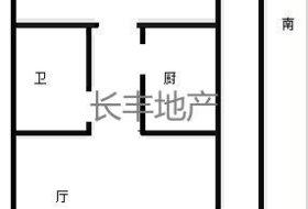 大六部口南北通透户型两居室,精装拎包入住