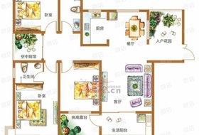 林州市,城中,锦江城市花园二期,锦江城市花园二期,3室2厅,145㎡